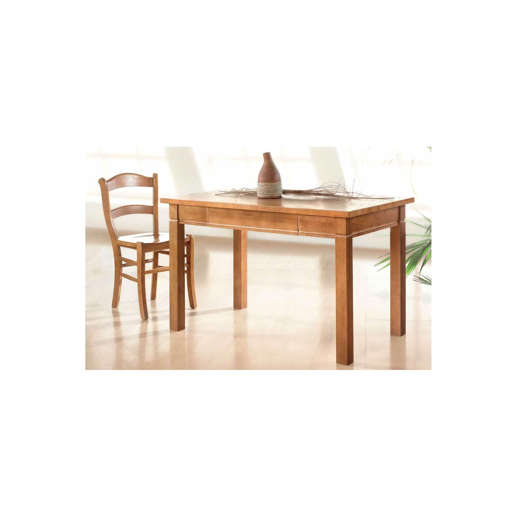 Mesa de cocina en madera de fresno estilo r stica modelo mango - Mesas de cocina de madera extensibles ...
