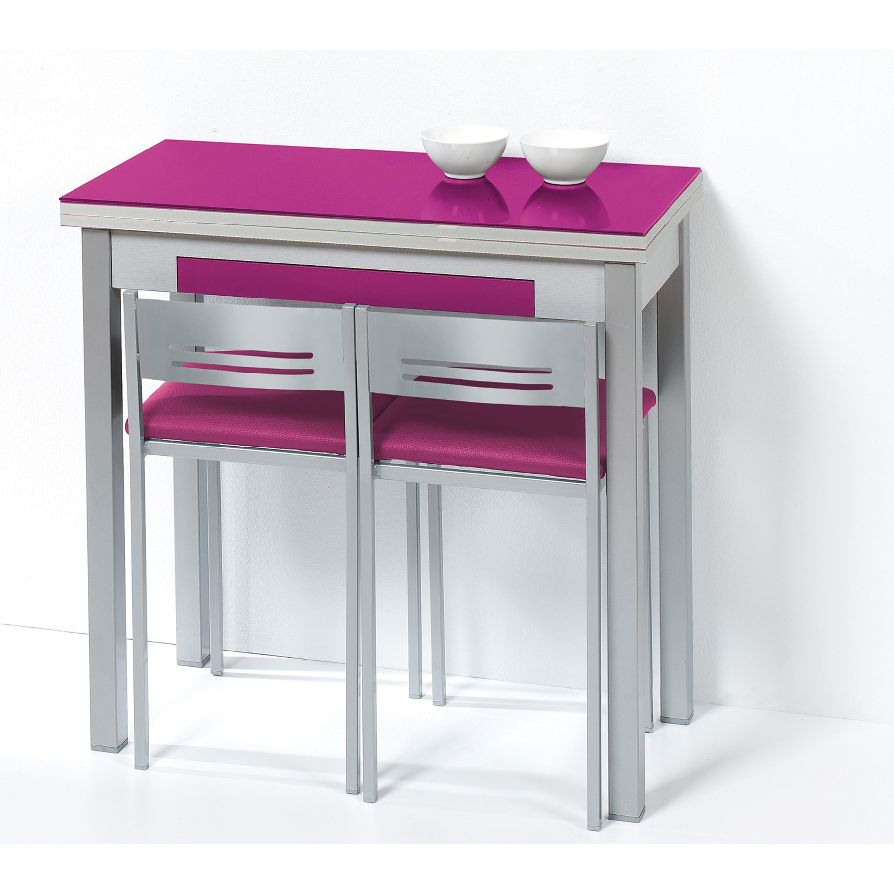 Pack de mesa libro de cocina y taburetes modelo magic - Mesa plegable pared cocina ...
