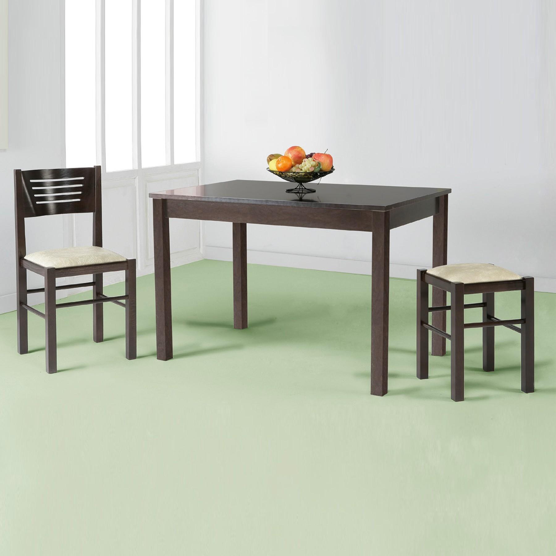 Mesa de cocina y comedor fija en madera modelo persimo - Mesas de cocina de madera extensibles ...