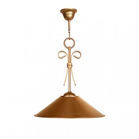 Lámpara 1 pantalla oro