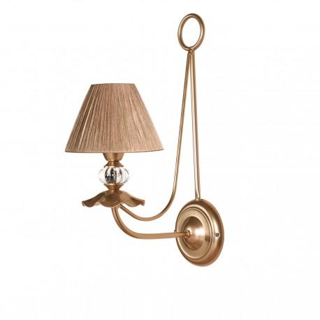Lámpara de pared modelo Hapy V2 1 brazo oro