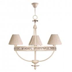 Lámpara de techo araña modelo Noumis 3 brazos beige
