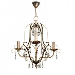 Lámpara de techo modelo Hermes 3 brazos bronce