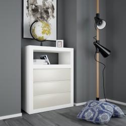 Cómoda minimalista lacada modelo 8 - 3 cajones gris