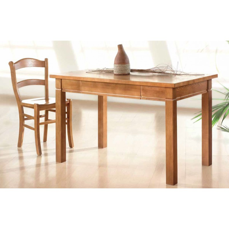 Conjunto de mesa y sillas de cocina de madera de fresno modelo mango - Sillas plegables de cocina ...