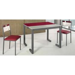 Mesa de cocina extensible patas en L modelo Grosella