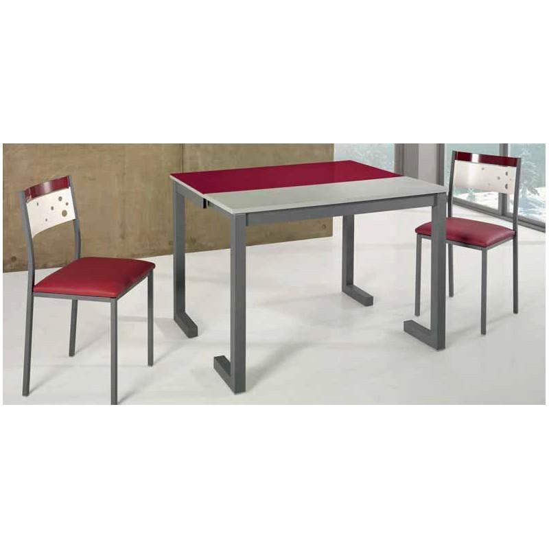Mesa de cocina extensible patas en l modelo grosella - Mesa cocina extensible ...