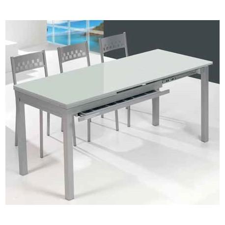 Conjunto de mesa extensible y sillas de cocina comedor for Sillas cocina comedor