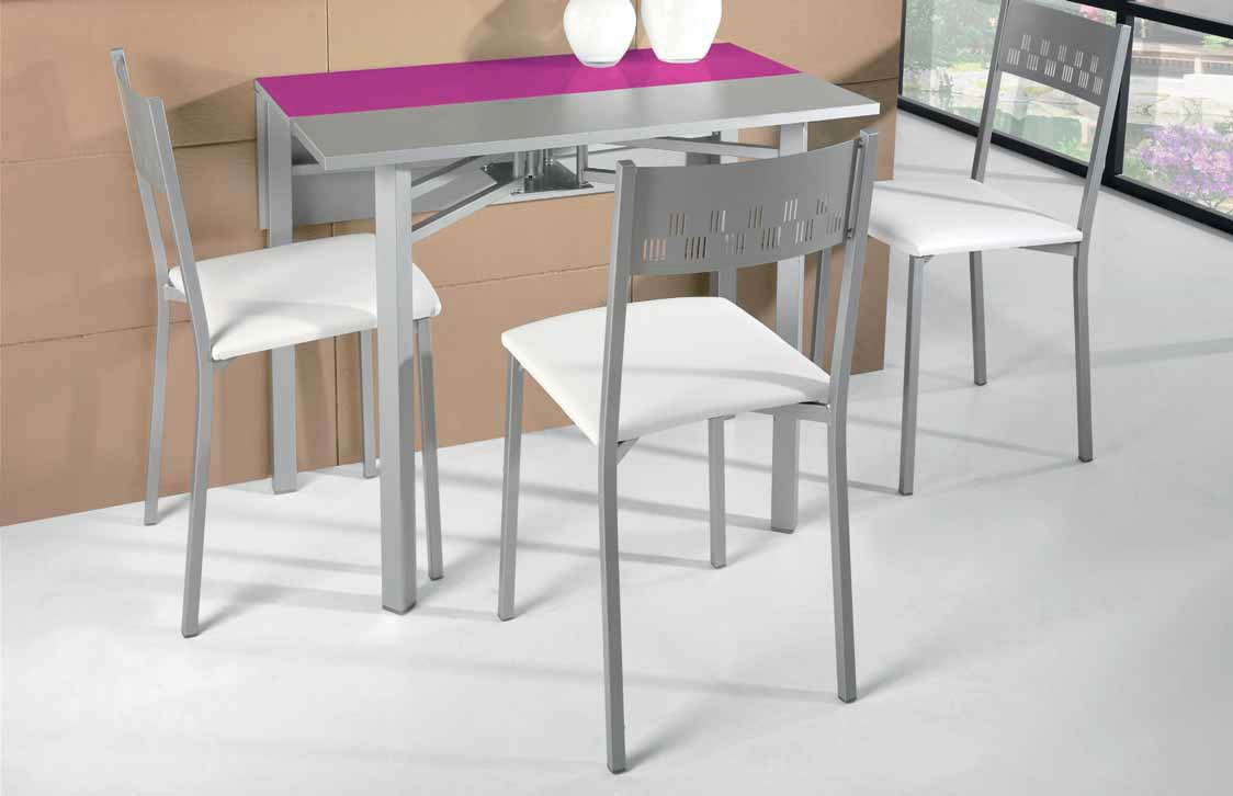 Sillas de cocina plegables latest silla plegable ibis for Mesas cocina plegables