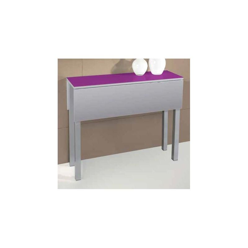 Conjunto de mesa plegable y sillas de cocina modelo ciruela for Mesa abatible pared cocina