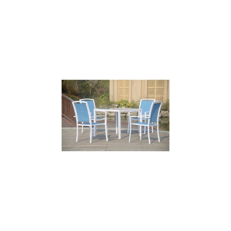 Conjunto mesa y sillas dominica para terraza o jardin for Sillas y mesas para jardin o terraza