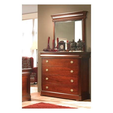 C moda con espejo cl sico modelo isabelina - Comodas para dormitorios ...