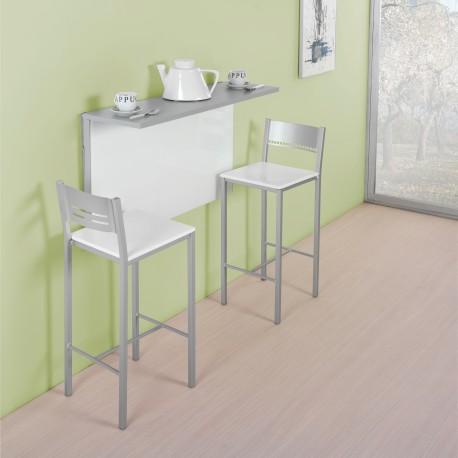 Mesa de pared abatible para cocina modelo e for Mesa abatible cocina