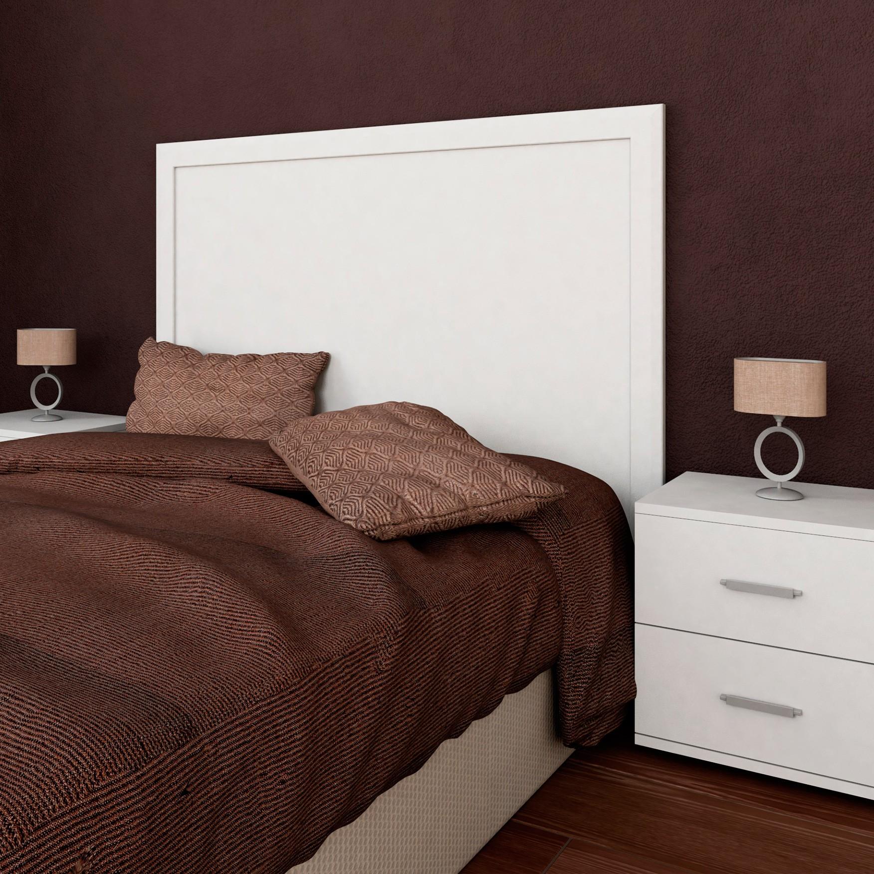 Cabecero de cama blanco elegant cabecero y cama de forja for Cabecero cama blanco