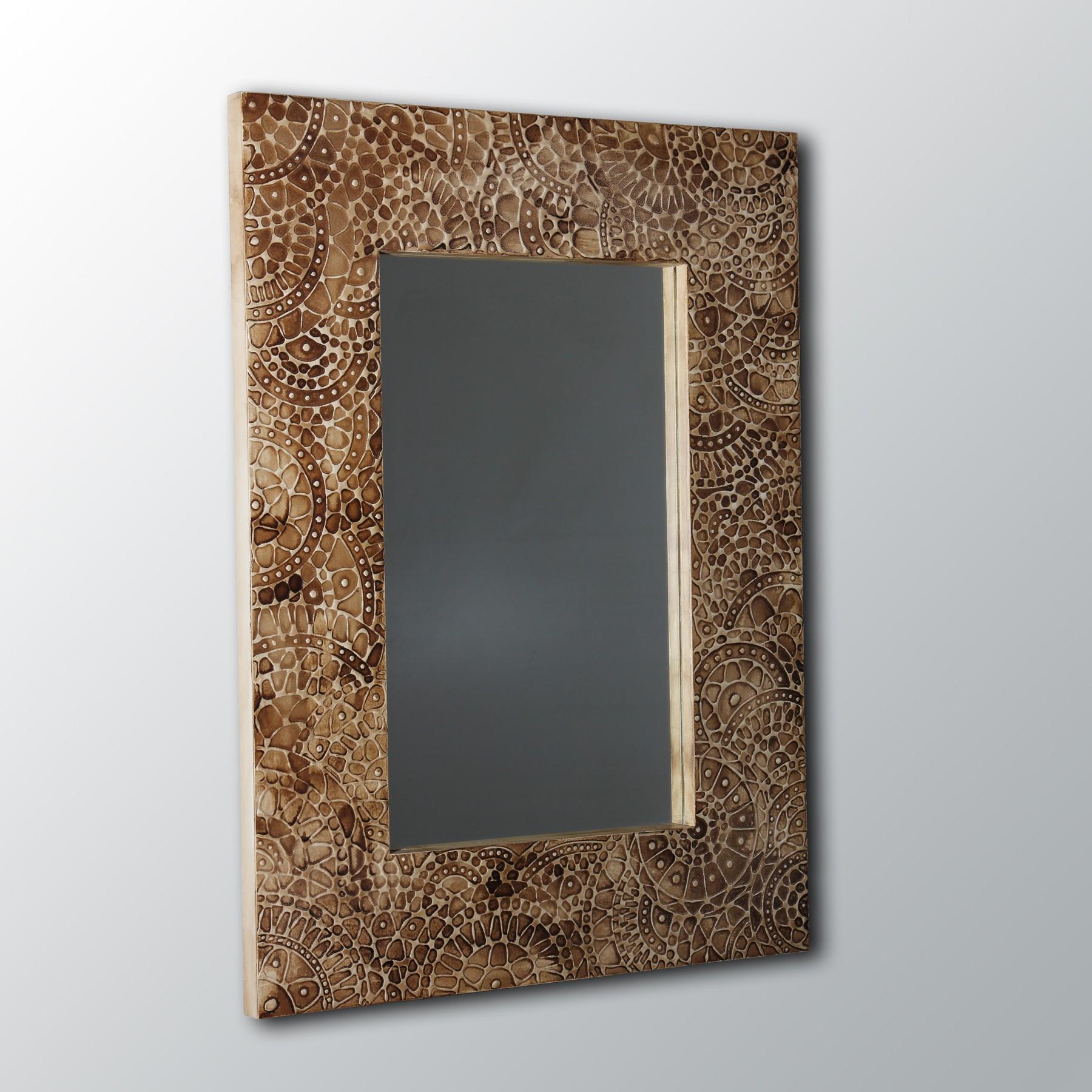 Espejo de pared artesanal hecho a mano modelo gobi for Modelos de espejos de pared