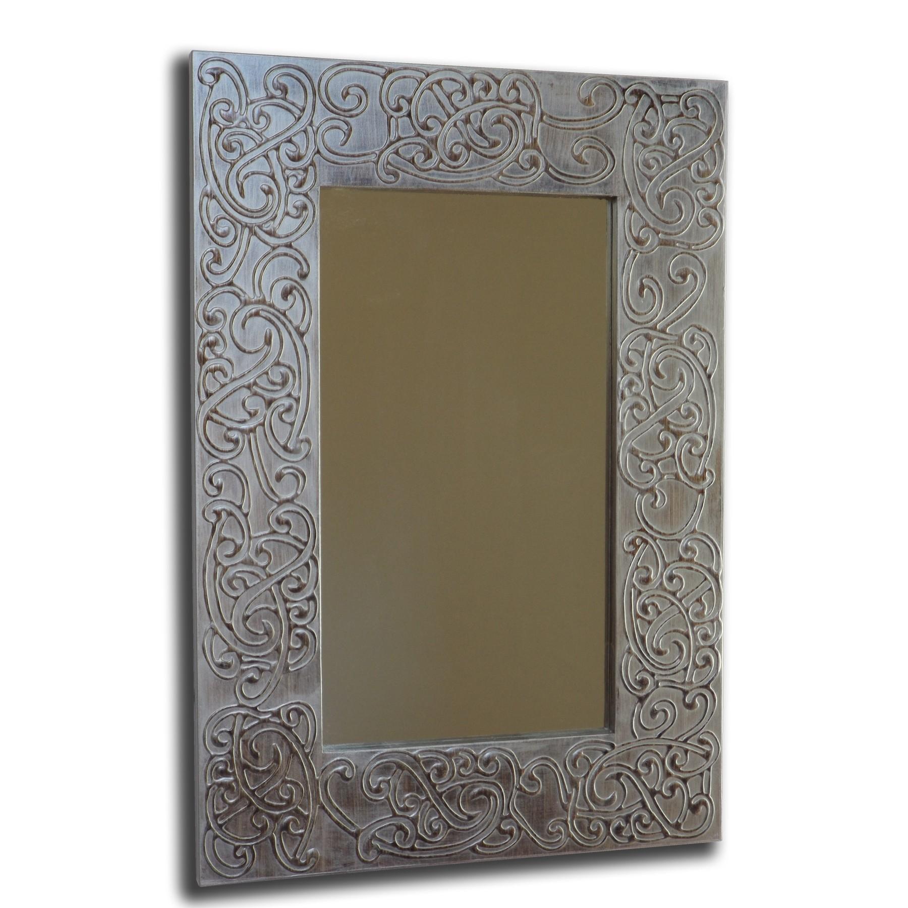 Espejo artesanal de pared hecho a mano modelo nubia for Espejos artesanales