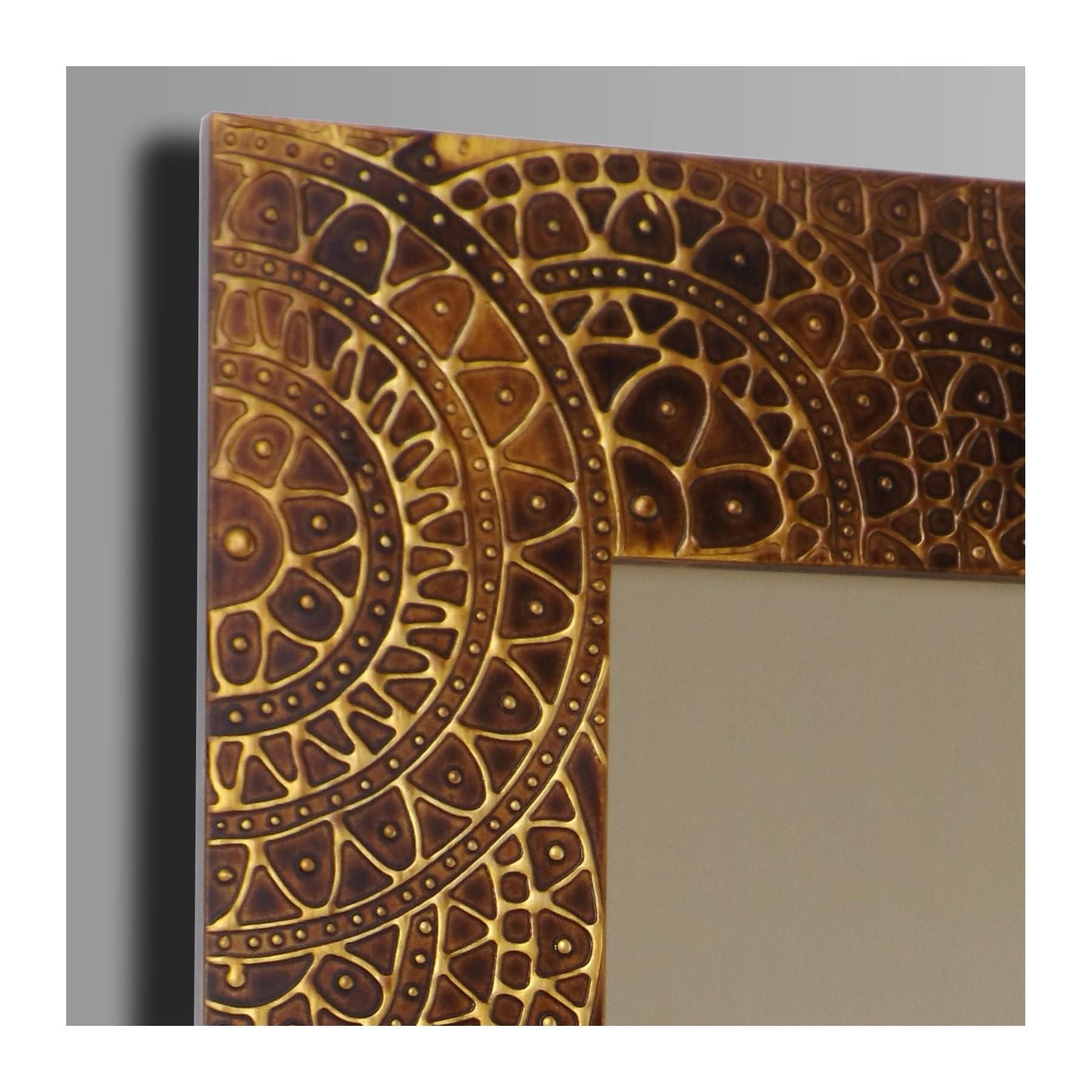 Espejo artesanal de pared hecho a mano modelo nazca for Modelos de espejos decorativos