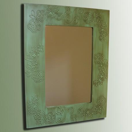 Espejo artesanal de pared hecho a mano modelo mojave for Modelos de espejos decorativos