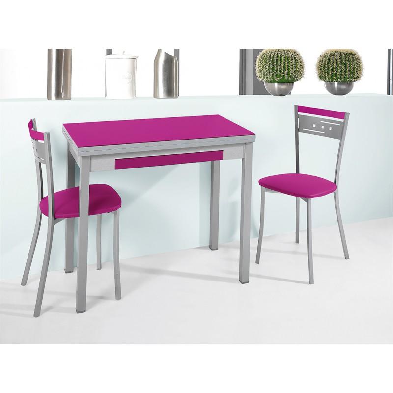 Conjunto de mesa sillas y taburetes de cocina calidad for Sillas de colores para cocina