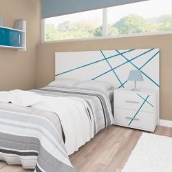 Conjunto para habitación individual SANTORINI - Anchura cabecero cama + mesita de noche
