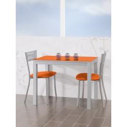 Conjunto de mesa extensible frontal y sillas de cocina modelo C