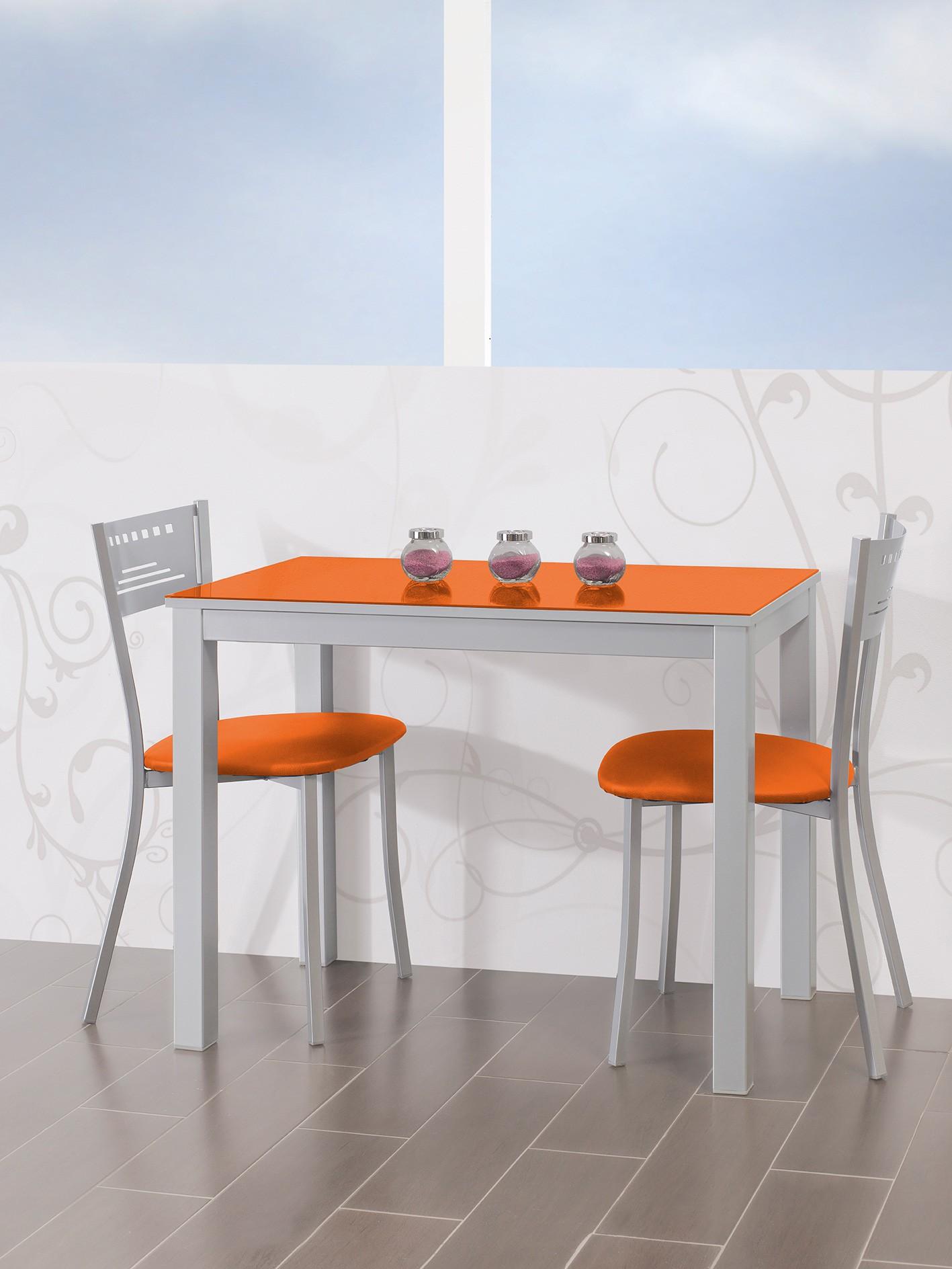 Conjunto de mesa extensible alas sillas y taburetes de cocina mod A
