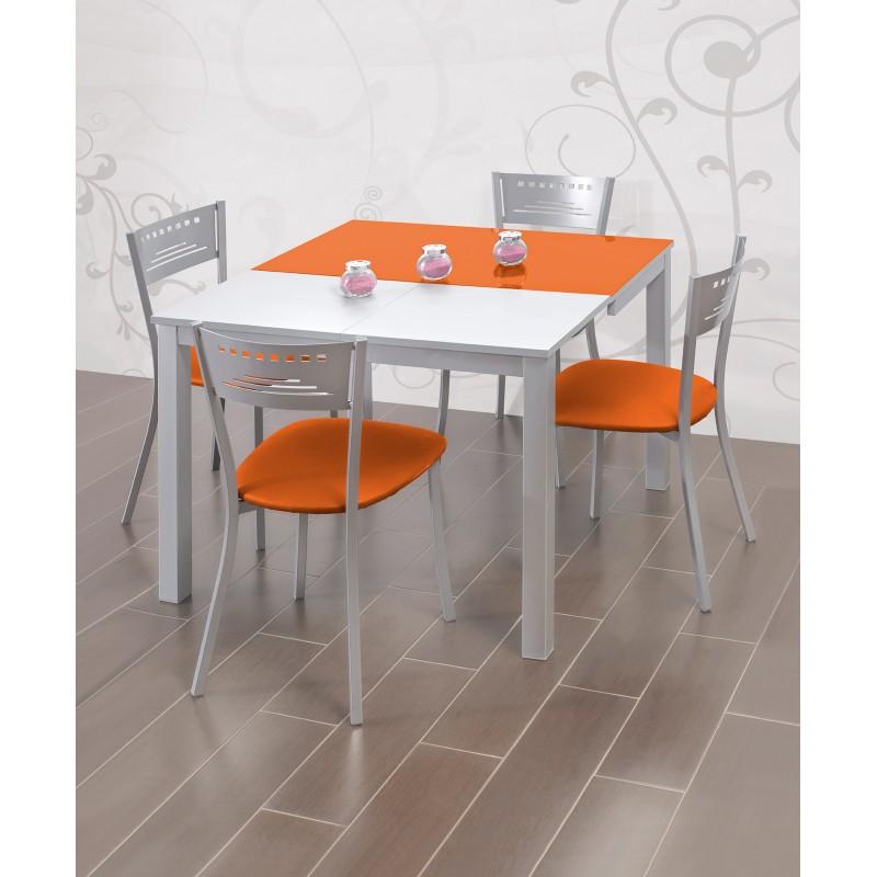 Conjunto de mesa extensible frontal y sillas de cocina - Conjunto mesa extensible y sillas comedor ...
