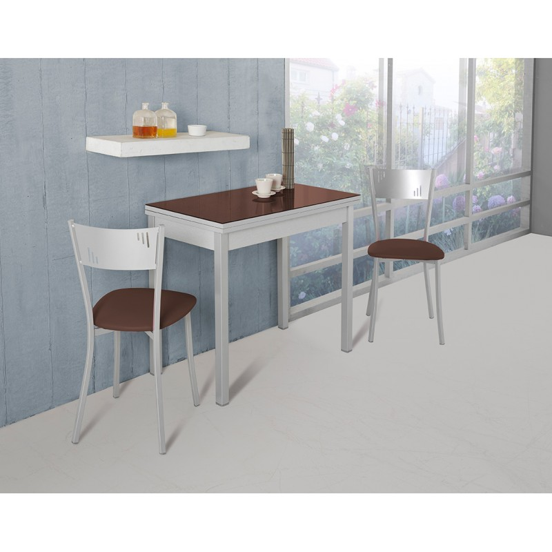 Conjunto de mesa de cocina extensible y juego de sillas for Juego mesa cocina