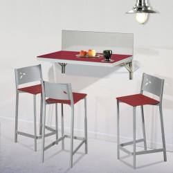 Pack Ahorro en Mesa de cocina de pared con dos ó cuatro taburetes DKG