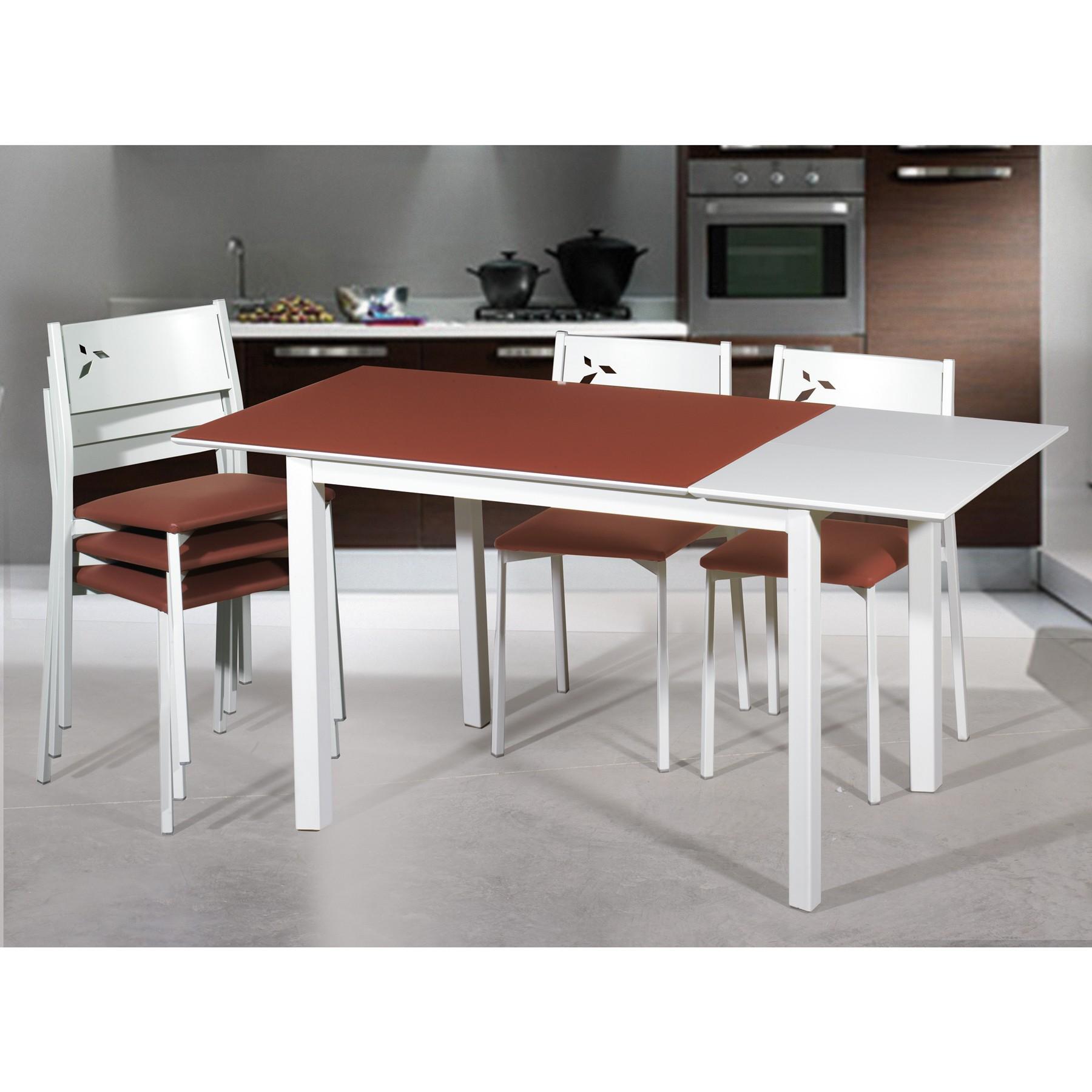 Oferta conjunto mesa y sillas de cocina blancas white for Ofertas en mesas y sillas
