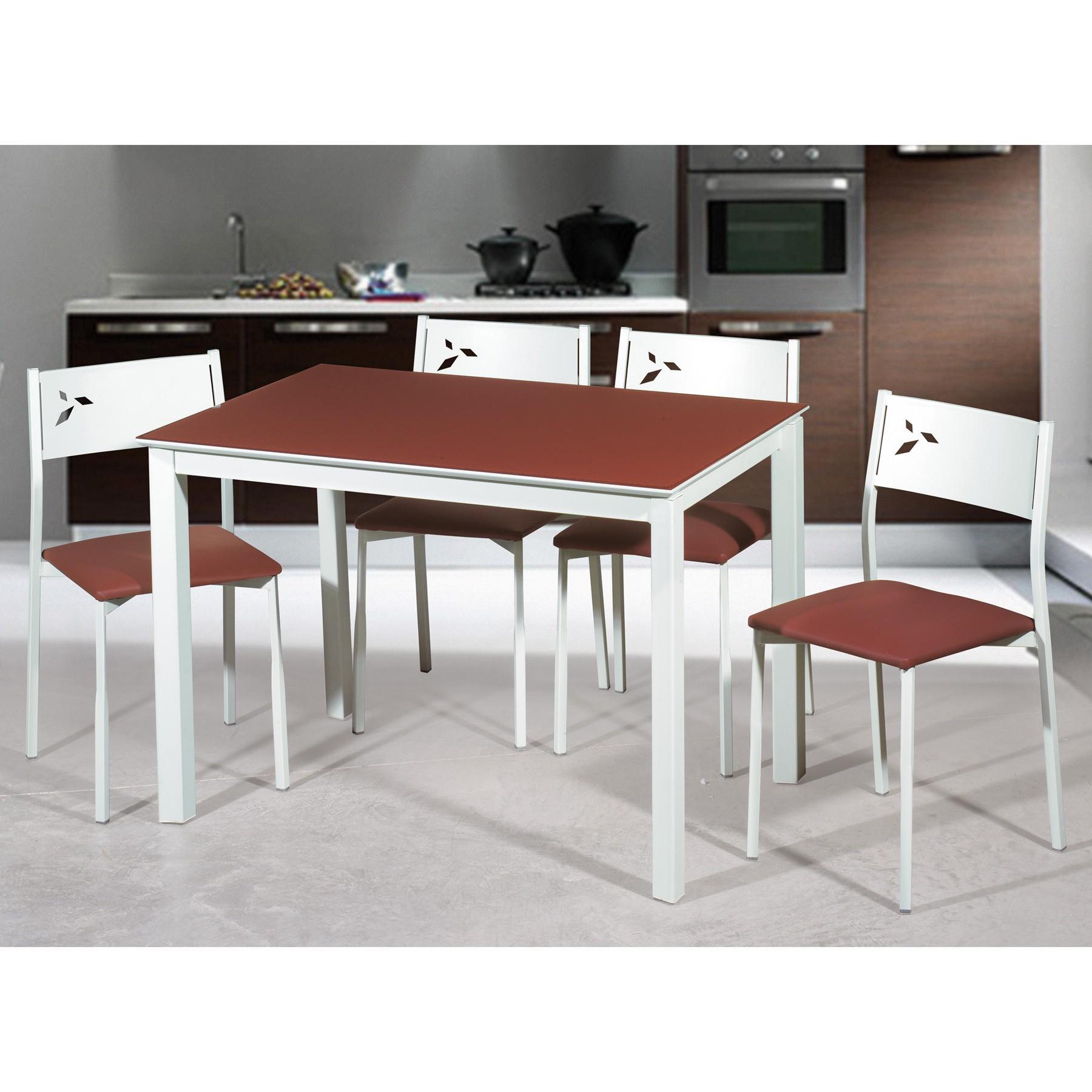 Mesa de cocina extensible lateral blanca white - Mesa de cocina blanca ...