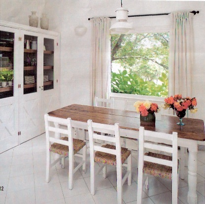 Mesas de madera para cocinas archivos blog dekogar for Mesa cocina blanca