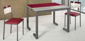 Mesa de cocina extensible de apertura frontal