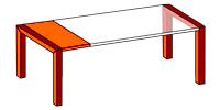 Mesa de cocina extensible de apertura lateral