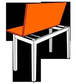 Decoracion mueble sofa mesa tipo libro - Mesa comedor tipo libro ...