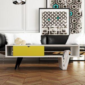Mesa de centro diseño moderno modelo Rolling exclusiva en www.dekogar.es