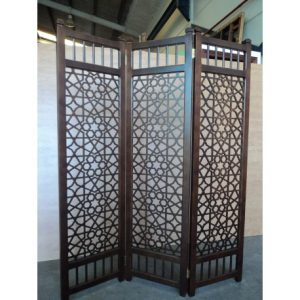 muebles del hogar vanguardistas-biombo-separador-ambiente-madera-clasico-modelo-arabia