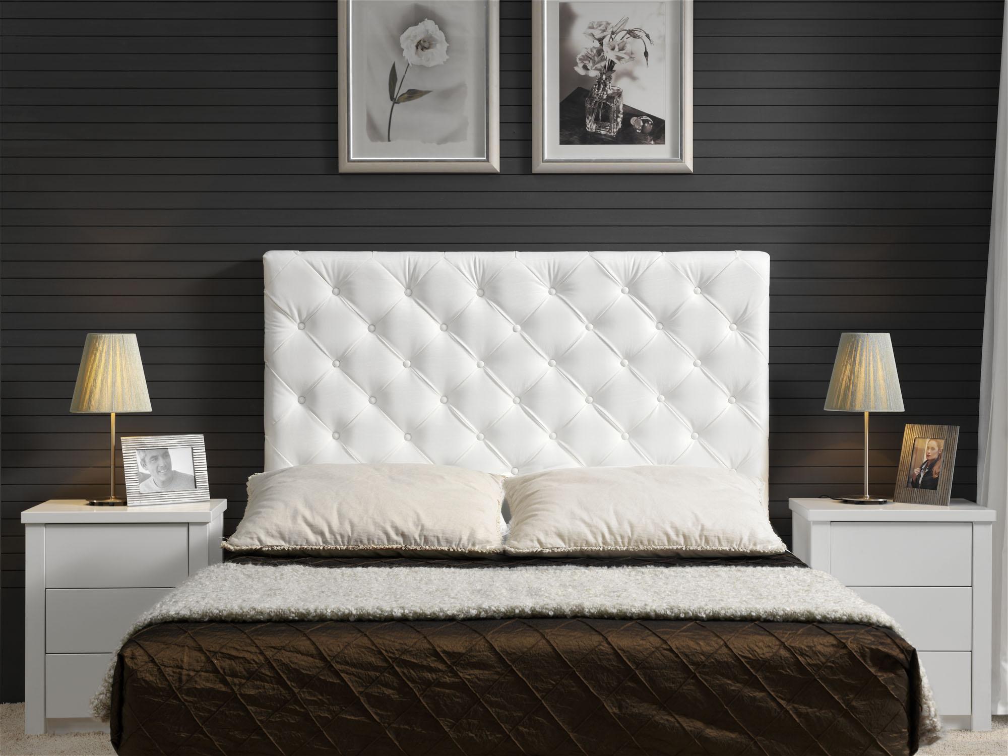 Cabeceros cama tapizados tela awesome cabecero cama hecho - Cabeceros de tela ...