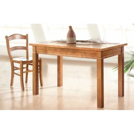 Mesa de cocina en madera de fresno estilo rústica modelo Mango