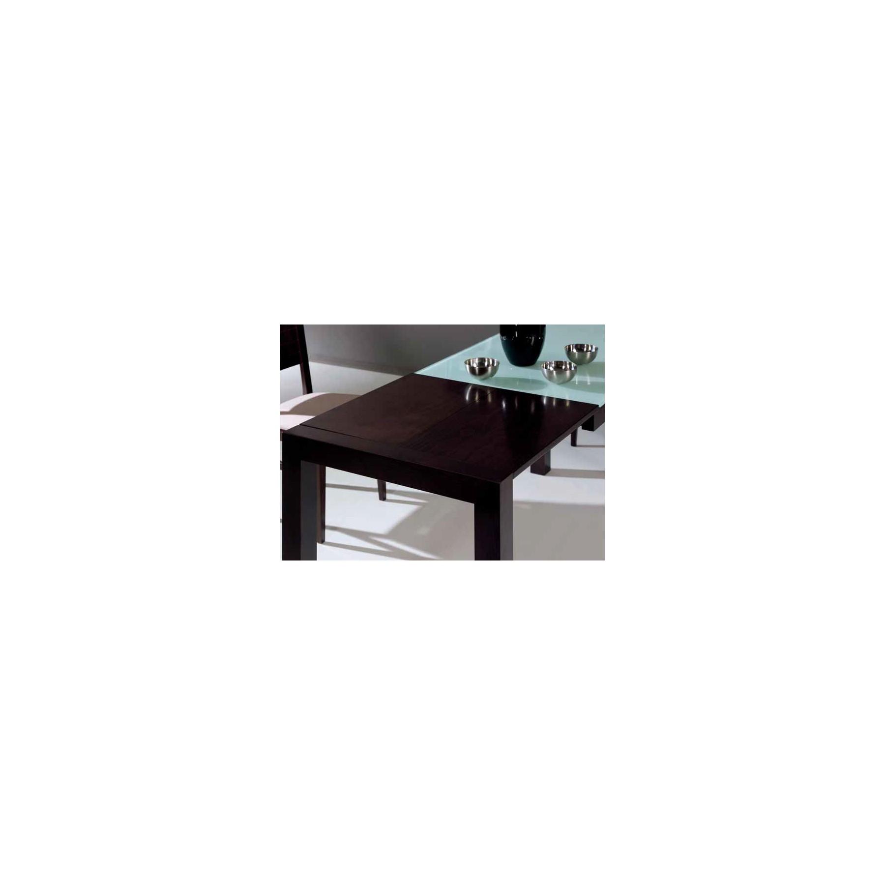 Mesa de cocina de madera extensible y cristal templado for Mesa cocina extensible ikea