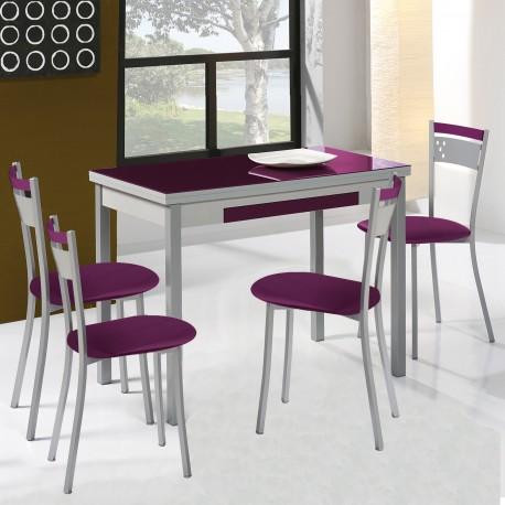 Pack Mesa de cocina extensible + 4 sillas mod. A