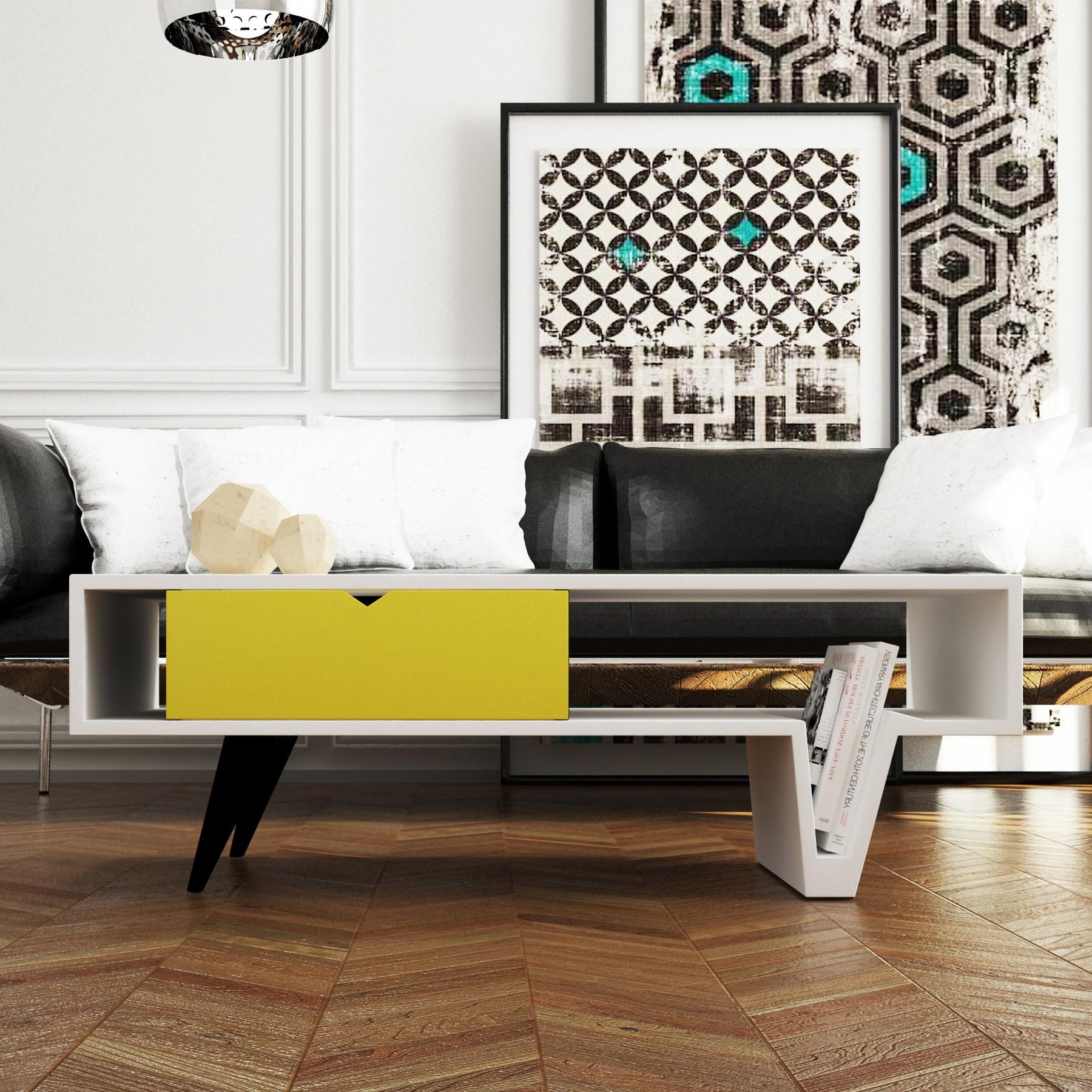 Mesa de centro dise o moderno rolling - Mesa salon diseno ...