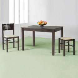 Mesa de cocina y comedor fija en madera modelo PERSIMO