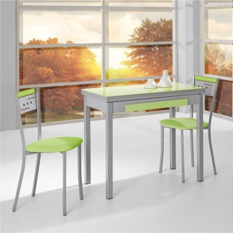 Conjunto de mesa libro y sillas de cocina modelo sunny for Ver mesas y sillas de cocina