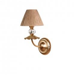 Lámpara de pared modelo Hapy 1 brazo Oro