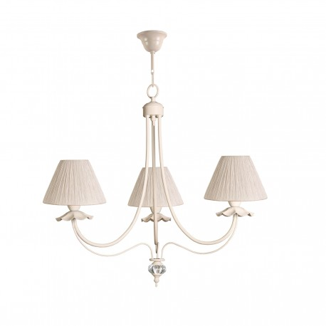 Lámpara de techo araña modelo Hapy 3 brazos beige