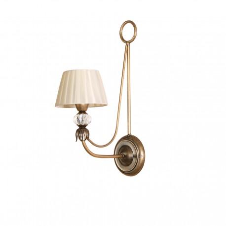 Lámpara de pared modelo Epona un brazo bronce