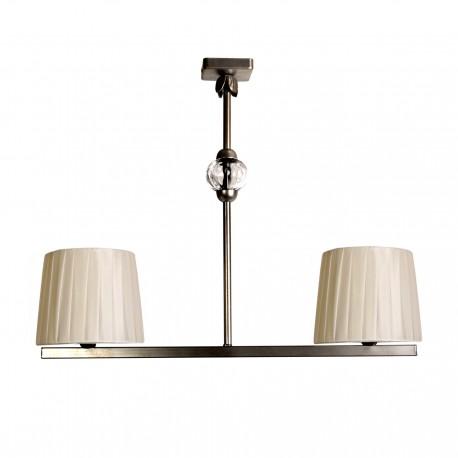Lámpara de techo modelo Epona V2 dos brazos plata vieja