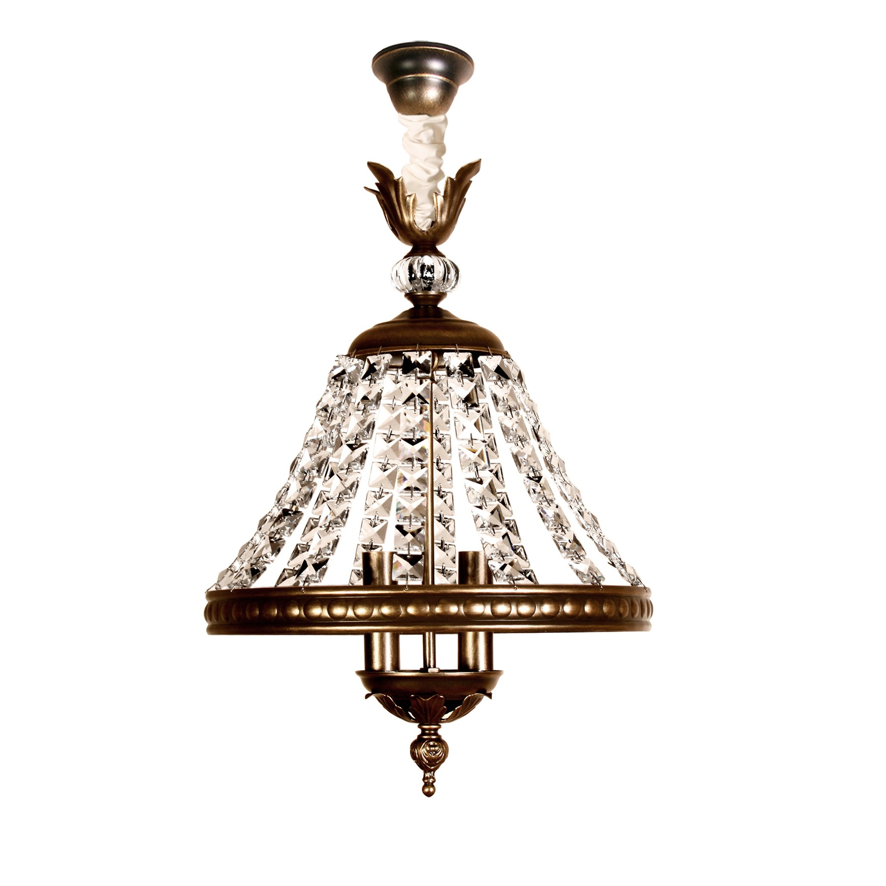 Antigua Lámpara Cristal De Juno Techo eBorCdx