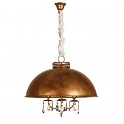 Lámpara de techo semicírculo metal Lida